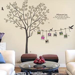 메모리즈 (나무와 사진) 그래픽스티커 포인트 시트지