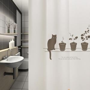 (샤워커튼)옥탑방고양이