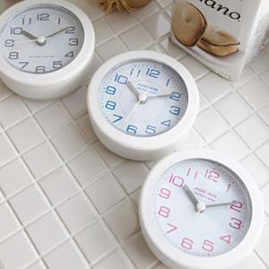 화이트 욕실방수시계(3color)