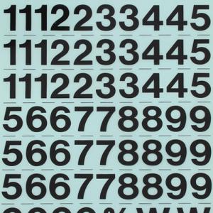 레터링지 숫자 - 고딕체 (규격/색상선택)