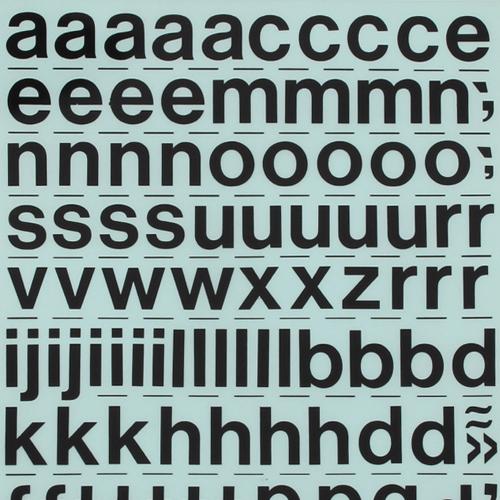 레터링지 알파벳 - 고딕체소문자 (규격/색상선택)