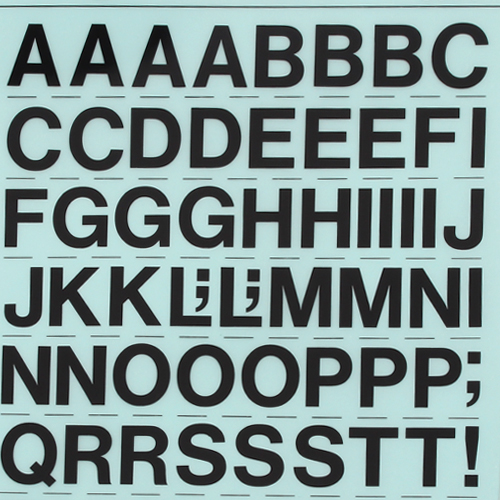 레터링지 알파벳 - 고딕체대문자 (규격/색상선택)
