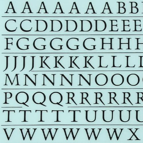 레터링지 알파벳/숫자 - 흘림체 (색상선택)