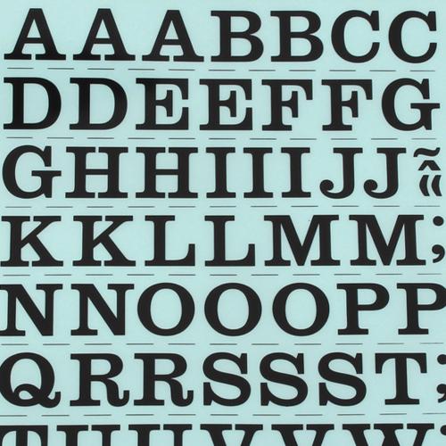 레터링지 알파벳 - 바탕체대문자 (규격/색상선택)