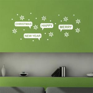크리스마스눈꽃 - 크리스마스 눈꽃 그래픽스티커 월데코 시트지 포인트