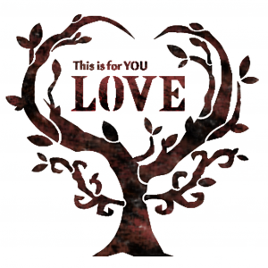 스텐실 도안_love tree(A5)