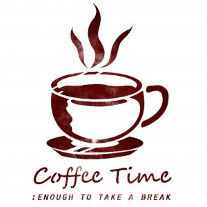 스텐실 도안_coffee rest(A5)