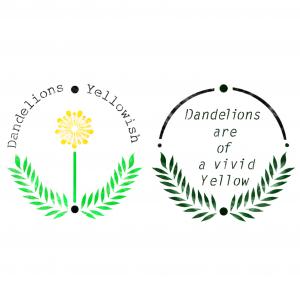 스텐실 도안_dandelions