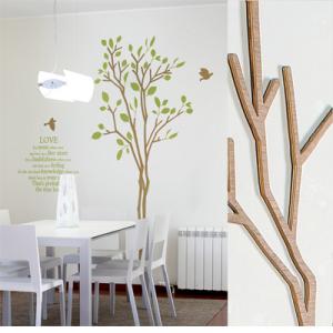[우드스티커] 그린스토리 (컬러완제품) - 입체우드 월데코  포인트 집꾸미기 벽장식