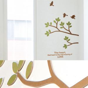 [우드스티커] 버드하모니 (컬러완제품) - 입체우드 월데코  포인트 집꾸미기 벽장식
