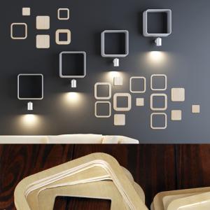[우드스티커] 스퀘어패턴 (반제품) - 입체우드 월데코  포인트 집꾸미기 벽장식