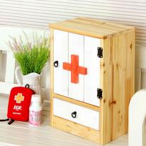 원목구급상자 구급함 약상자 어린이 약장(HS024)