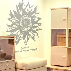 해바라기 (큰꽃1개) 그래픽스티커 포인트 시트지 스티커벽지