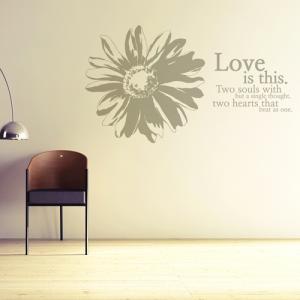 향기 (코스모스 1개) 그래픽스티커 포인트 시트지 스티커벽지