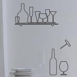 그래픽스티커 - Wine Set