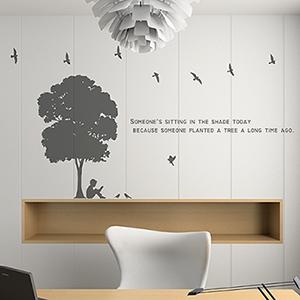 그래픽스티커 - 작은 나무 한그루