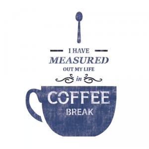 스텐실 도안_Coffee Break