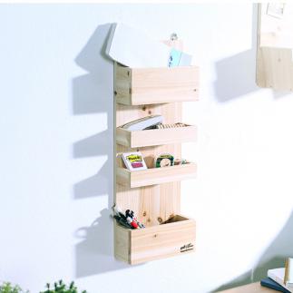 [스타일박스] 196. 메모리선반 - 삼나무 원목 진열 벽장식