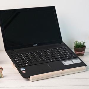 [스타일박스] 066. 노트북받침대 - 삼나무 원목 정리 사무용품