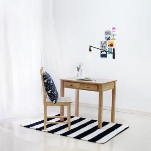 [벤트리]원목 서랍 테이블 80