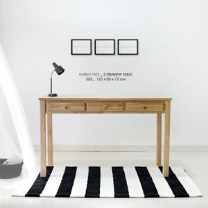 [벤트리]원목 서랍 테이블 120