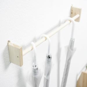 [스타일박스] 240. 우산걸이 - 삼나무 원목 진열 벽장식
