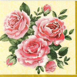 DIY용냅킨 장미세송이(1315)