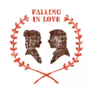 스텐실 도안_Falling in love