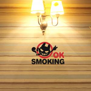 흡연스티커 2piece [포인트스티커/매장스티커]