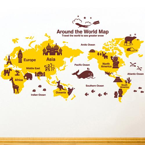 신나는 세계여행 [아이방스티커/인테리어스티커]
