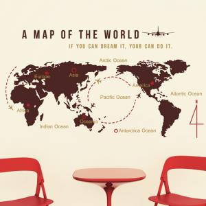 (LU-B50)대형 세계지도 WORLD MAP