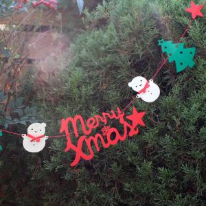 MerryXmas 눈사람 별 가랜드