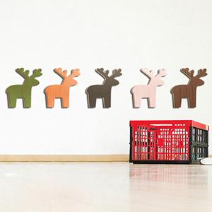 [우드스티커] 크리스마스루돌프아이콘 (완제품) - 입체우드 월데코  포인트 우드스카시 벽장식