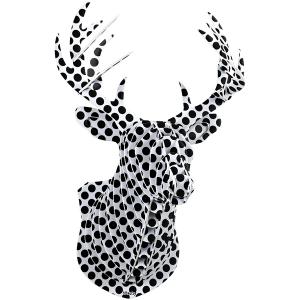 사슴머리장식(검정도트)