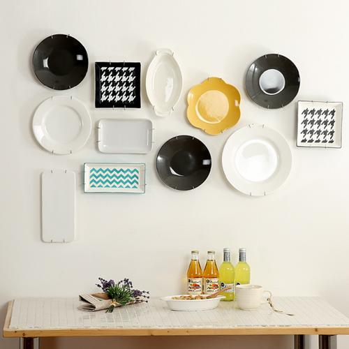인테리어용 벽면 접시걸이