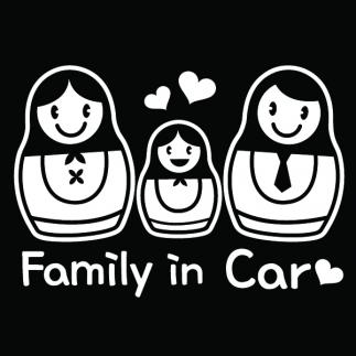 자동차스티커_마트로시카_가족이타고있어요