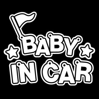 자동차스티커_플래그_Baby in Car