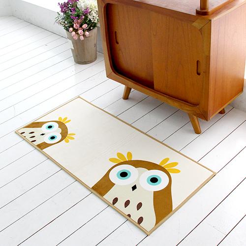 [국내제작 디자인] 부엉이 주방매트