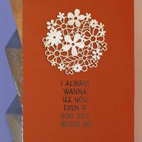 [우드스티커] 플라워리스 (반제품) - 입체우드 월데코  포인트 나무스카시 벽장식
