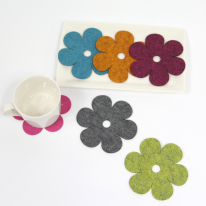simple flower coaster