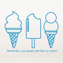 메모 아이스크림
