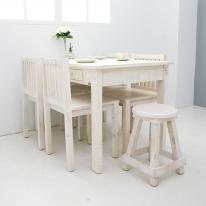 뉴질랜드소나무 1180 4인식탁(white) DESK118-W