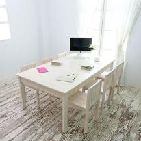 뉴질랜드소나무 회의&작업테이블(특대)(white) 2000DESK-W