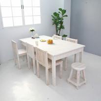 뉴질랜드소나무 1800 6인식탁(white) 1800DESK-W