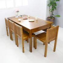 뉴질랜드소나무 1600 6인식탁(natural) 1600DESK-A