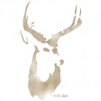 스텐실 도안_Hello, deer(A4/A3)