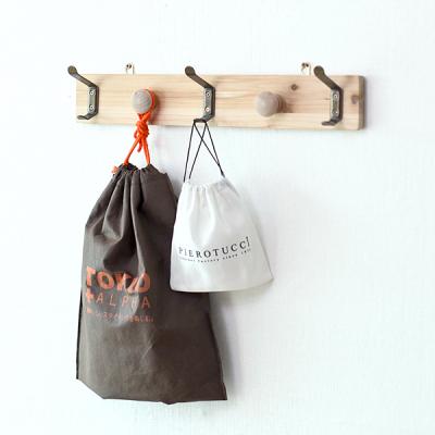 [스타일박스] 369. 네츄럴옷걸이 - 삼나무 원목 벽걸이 옷정리
