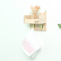 [스타일박스] 375. 키친옷걸이 - 삼나무 원목 벽걸이 옷정리