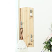 [스타일박스] 374. 우리집옷걸이 - 삼나무 원목 벽걸이 옷정리