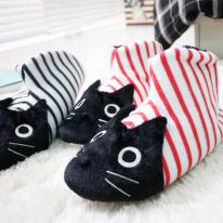줄무늬 고양이 실내슬리퍼- 2color
